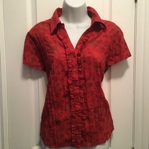💍3/20$💍 red blouse short sleeves